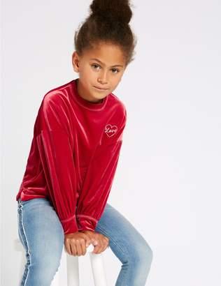 Marks and Spencer Velvet Sweatshirt (3-16 Years)
