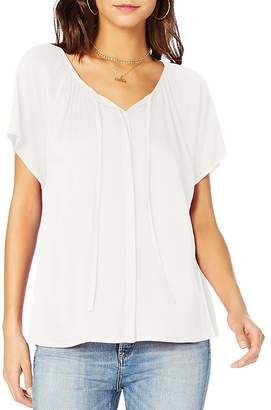 Michael Stars Short-Sleeve Peasant Top