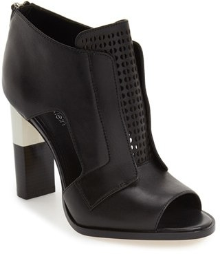 Women's Calvin Klein 'Kissa' Peep Toe Bootie $189.95 thestylecure.com