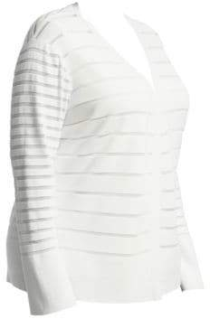 Lafayette 148 New York Lafayette 148 New York, Plus Size Mixed Stripe Cardigan