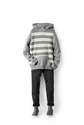 Country Road Stripe Knit Hoodie