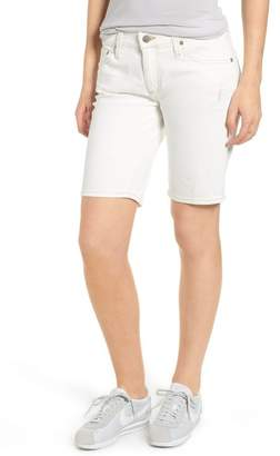 AG Jeans Nikki Denim Bermuda Shorts (1 Year Neutral White)