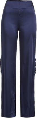 Jonathan Simkhai Satin Pants with Snapped Sides