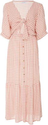 Faithfull The Brand Maple Plaid Mini-Dress