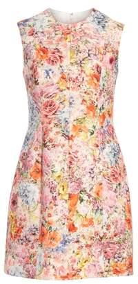Valentino Floral Print Shift Dress