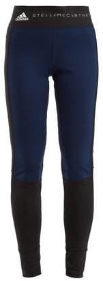 adidas by Stella McCartney Yoga Comfort Performance Leggings - Womens - Navy Multi