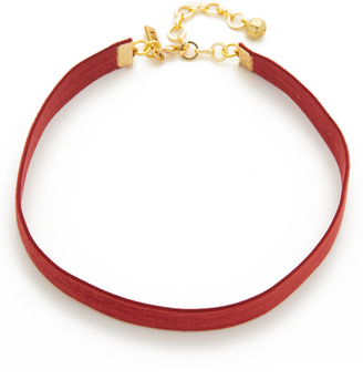 Vanessa Mooney Velvet Choker Necklace $30 thestylecure.com