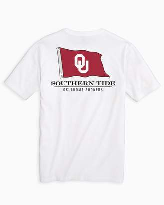 Southern Tide Gameday Nautical Flags T-shirt - University of Oklahoma
