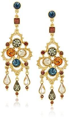 Swarovski Ben-Amun Jewelry Arabian Nights Crystal Chandelier Drop Earrings