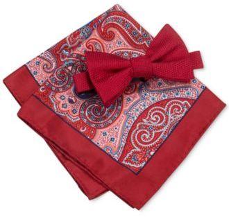 Countess Mara Men's Bradley Bow Tie & Paisley Pocket Square Set