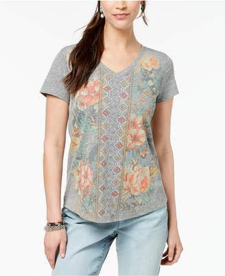 Style&Co. Style & Co Graphic-Print T-Shirt, Created for Macy's