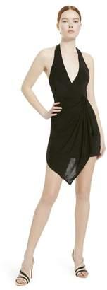 Alice + Olivia Marx Halter Neck Mini Dress