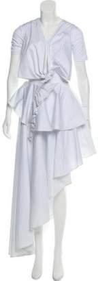 Fame & Partners Ruffled Asymmetrical Skirt Set