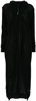 Barbara I Gongini long rolled-neck cardigan