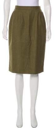 Oscar de la Renta Wool Knee-Length Skirt