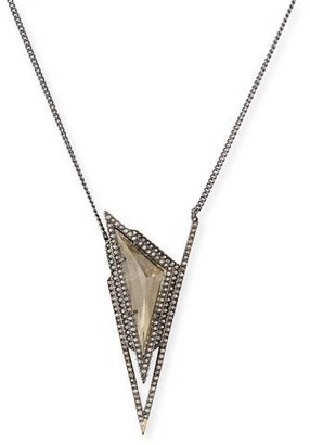 Alexis Bittar Crystal Pyramid Spike Necklace $275 thestylecure.com