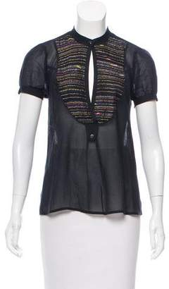 Mayle Embroidered Short Sleeve Top