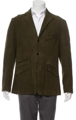 Polo Ralph Lauren Suede Two-Button Blazer