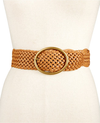Inc International Concepts Woven Belt, Created for Macy's $34.50 thestylecure.com