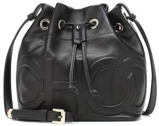 Jimmy Choo Juno leather bucket bag