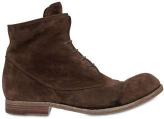 Officine Creative Washed Suede Lace-Up Boots