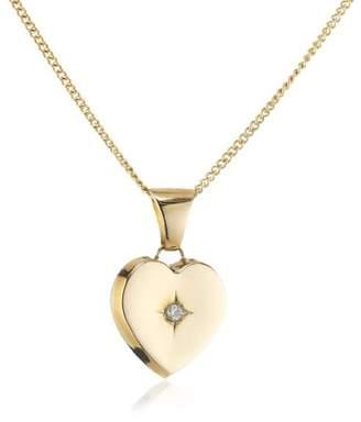 "Celesta Diamonds by Ellen K. Children""s Pendant with Chain 585 Yellow Gold 36–38 CM 1 Diamond 0,01 Carat Heart 500341065–1"