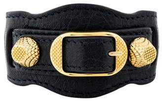 Balenciaga Arena Leather Giant Bracelet gold Arena Leather Giant Bracelet