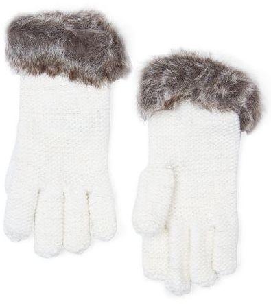 MANGO Faux fur cuff gloves