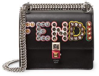 Fendi Women's Mini Kan I Studded Leather Crossbody Bag