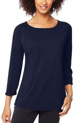 Hanes Women's Raglan Pocket T-shirt