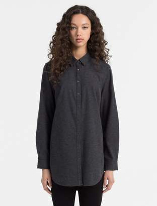 Calvin Klein flannel cotton tunic