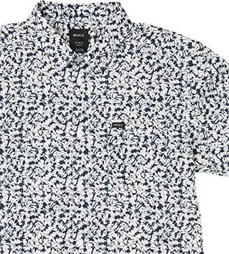 RVCA Men's Brong Short Sleeve Woven Shirt