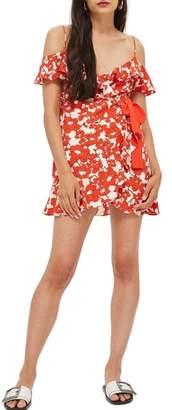 Topshop Poppy Ruffle Wrap Minidress