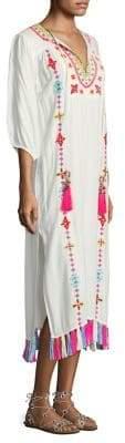 Pompom Kaftan Tassel Dress