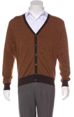 Canali Wool V-neck Cardigan