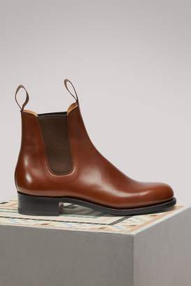 J.M. Weston Boxcalf Chelsea Boots
