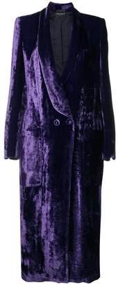 Cavallini Erika double-breasted velvet coat