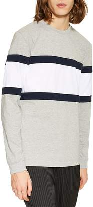 Topman Panel Long Sleeve T-Shirt