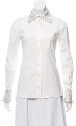 Michael Kors Long Sleeve Embellished Top w/ Tags