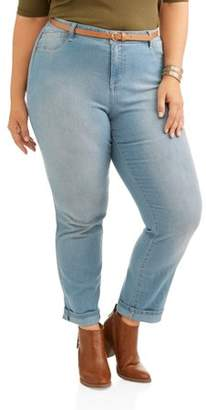 A3 Denim Women's Plus Size Everyday Stretch Straight Leg Jean