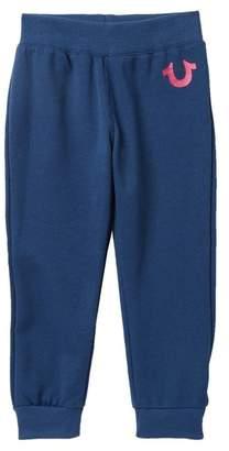True Religion Glitter Logo Sweatpants (Little Girls)