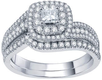 JCPenney MODERN BRIDE Modern Bride Signature 1 CT. T.W. Certified White & Color-Enhanced Blue Diamond Set