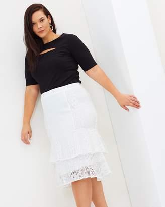 Lulu Ruffle Midi Skirt