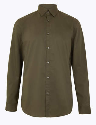 AutographMarks and Spencer Cotton Slim Fit Shirt