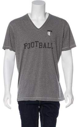Dolce & Gabbana V-Neck Football T-Shirt