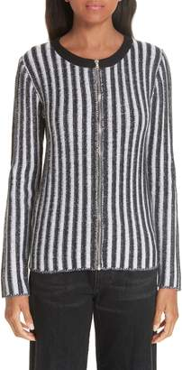 Simon Miller Vertical Stripe Zip Cardigan
