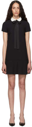 RED Valentino Black Satin Bow Dress