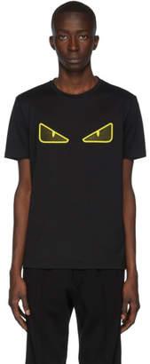 Fendi Black Grid Bag Bugs T-Shirt