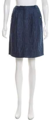 Valentino Bouclé Knee-Length Skirt