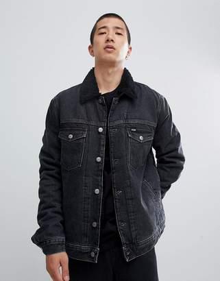 Wrangler fleece lined jacket midnight stone
